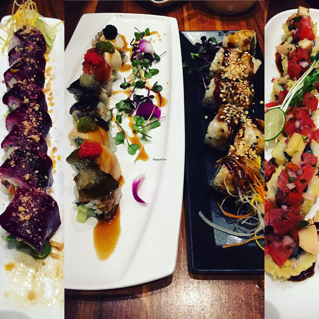 """Photo of Shizen Vegan Sushi Bar  by <a href=""""/members/profile/TheVeganNarwhal"""">TheVeganNarwhal</a> <br/>Assorted rolls <br/> February 12, 2018  - <a href='/contact/abuse/image/54689/358223'>Report</a>"""