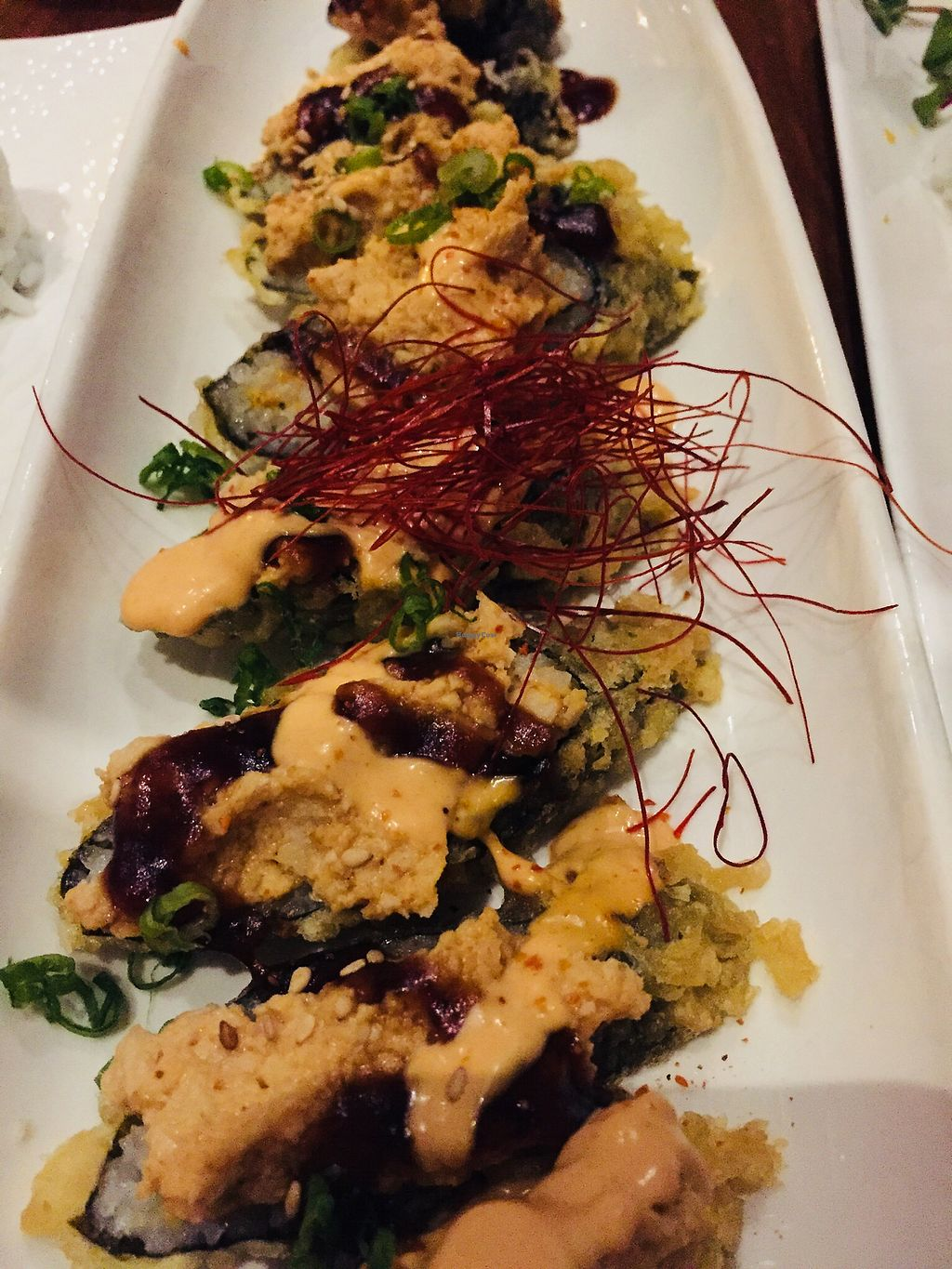 """Photo of Shizen Vegan Sushi Bar  by <a href=""""/members/profile/TheVeganNarwhal"""">TheVeganNarwhal</a> <br/>Don't remember the name of this one but it was good! <br/> February 12, 2018  - <a href='/contact/abuse/image/54689/358226'>Report</a>"""
