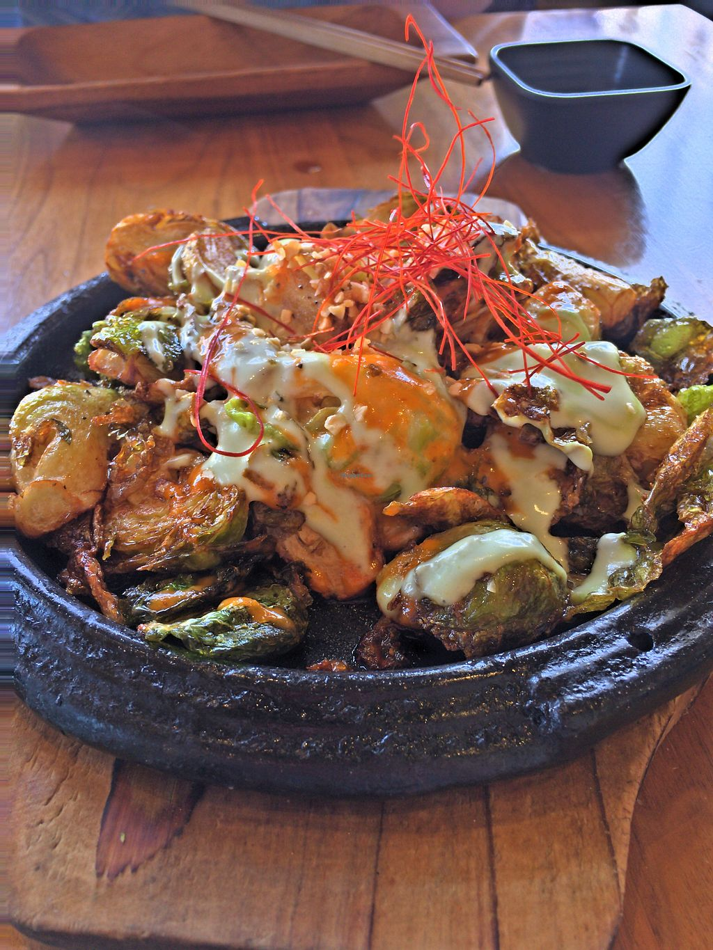 """Photo of Shizen Vegan Sushi Bar  by <a href=""""/members/profile/EthanBungay"""">EthanBungay</a> <br/>Brussell's Sprouts <br/> April 18, 2018  - <a href='/contact/abuse/image/54689/387437'>Report</a>"""