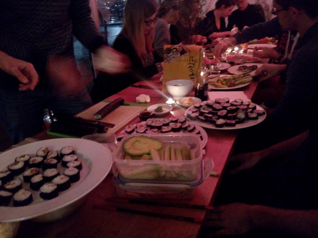 """Photo of raum  by <a href=""""/members/profile/SonjaST87"""">SonjaST87</a> <br/>Self made (vegan) Sushi during the event 'großes Raum Sushi essen'  <br/> February 9, 2015  - <a href='/contact/abuse/image/54736/92653'>Report</a>"""