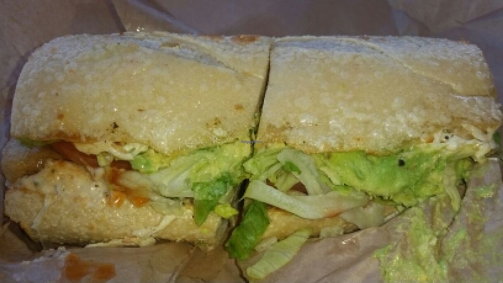 """Photo of Ike's  by <a href=""""/members/profile/kenvegan"""">kenvegan</a> <br/>Vegan Chicken Sub <br/> January 28, 2016  - <a href='/contact/abuse/image/54747/133989'>Report</a>"""