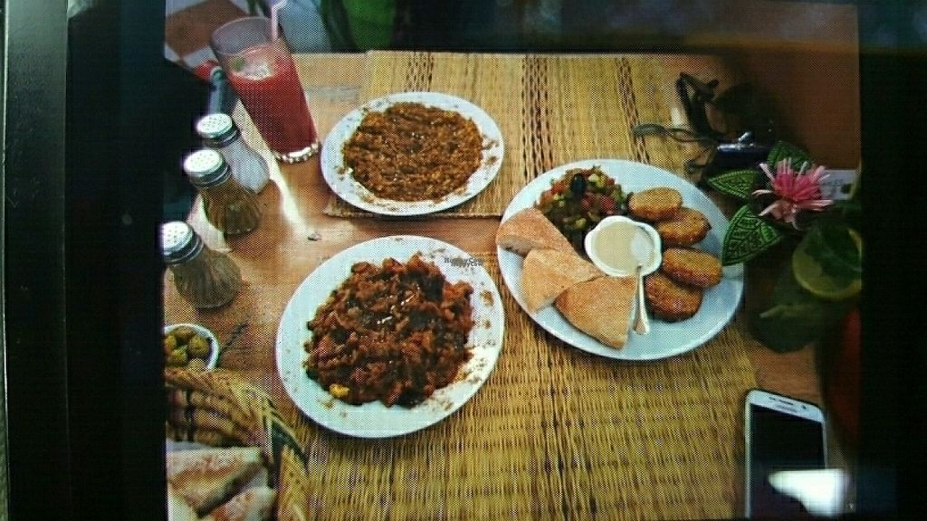 "Photo of Marrakech Henna Art Cafe  by <a href=""/members/profile/Sindala%20Marvaleus"">Sindala Marvaleus</a> <br/>Falafel, Lentil salad and eggplant salad <br/> December 5, 2016  - <a href='/contact/abuse/image/54753/197658'>Report</a>"