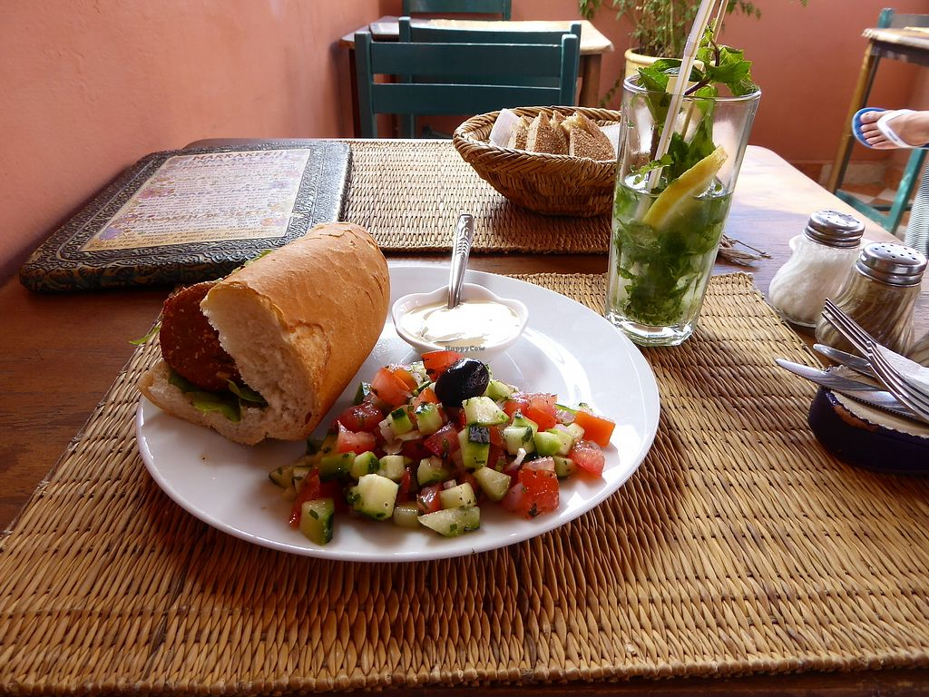 "Photo of Marrakech Henna Art Cafe  by <a href=""/members/profile/VeganNatascha"">VeganNatascha</a> <br/>Falafel Sandwich <br/> November 11, 2017  - <a href='/contact/abuse/image/54753/324416'>Report</a>"