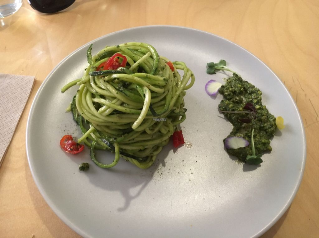 """Photo of Mantra Raw  by <a href=""""/members/profile/Lisa%20Souvatzi"""">Lisa Souvatzi</a> <br/>zucchini noodles with pesto <br/> August 2, 2016  - <a href='/contact/abuse/image/54756/164606'>Report</a>"""