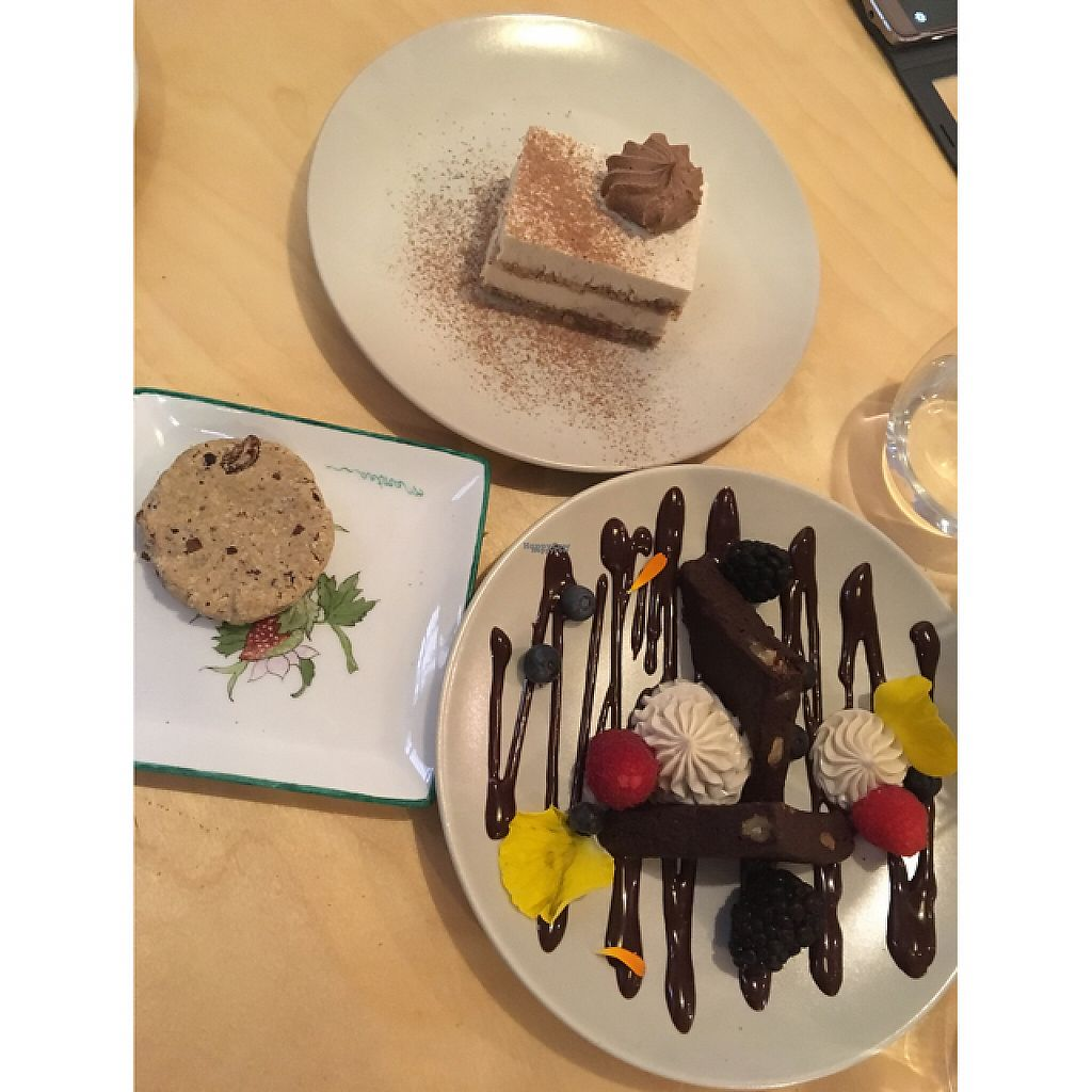 """Photo of Mantra Raw  by <a href=""""/members/profile/RomaDhanani"""">RomaDhanani</a> <br/>Tiramisu, cookie and brownie! <br/> February 28, 2017  - <a href='/contact/abuse/image/54756/231105'>Report</a>"""