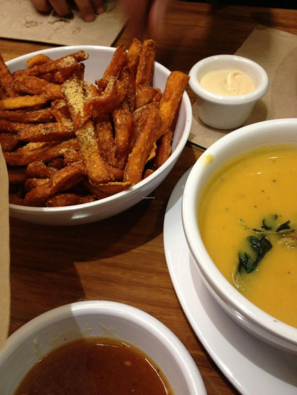 "Photo of Veggie Grill  by <a href=""/members/profile/wavesofjoy"">wavesofjoy</a> <br/>the sweet potato fries and butternut squash soup make delicious sides <br/> June 1, 2015  - <a href='/contact/abuse/image/54764/104454'>Report</a>"