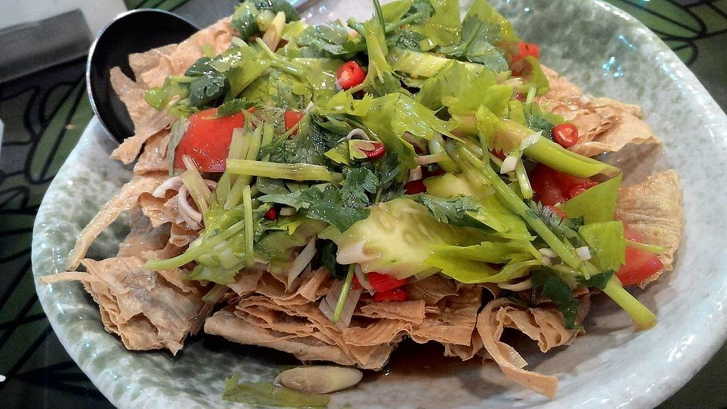 "Photo of Japanese Vegetarian Restaurant  by <a href=""/members/profile/Mister%20Yeti"">Mister Yeti</a> <br/>Spicy Tofu Skin Salad <br/> January 6, 2018  - <a href='/contact/abuse/image/54771/343421'>Report</a>"
