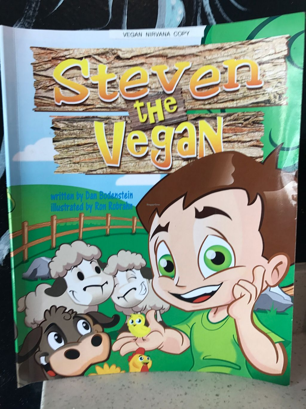 "Photo of Vegan Nirvana  by <a href=""/members/profile/BlendedFruit"">BlendedFruit</a> <br/>Steven the Vegan book was on display and read at Vegan Nirvana <br/> January 5, 2018  - <a href='/contact/abuse/image/54773/343154'>Report</a>"