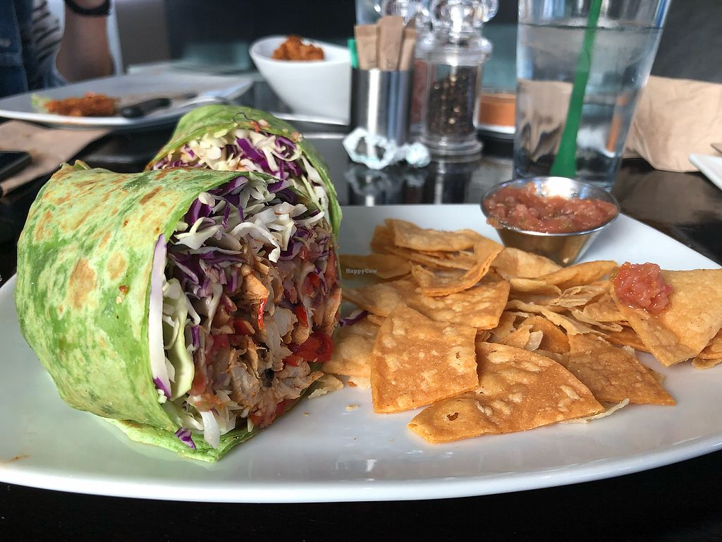 "Photo of Vegan Nirvana  by <a href=""/members/profile/kaitenaut"">kaitenaut</a> <br/>Chicken wrap <br/> April 11, 2018  - <a href='/contact/abuse/image/54773/383661'>Report</a>"