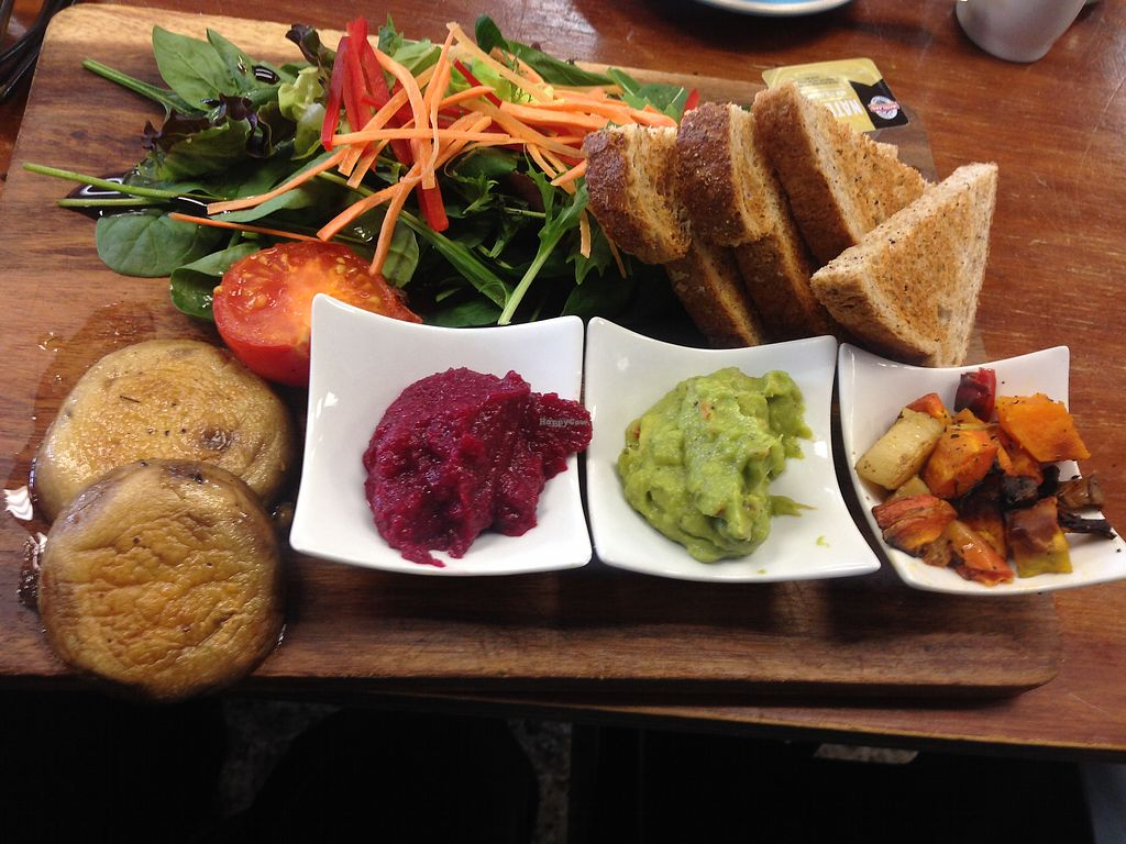 "Photo of Be Rude Not To Cafe  by <a href=""/members/profile/Tiggy"">Tiggy</a> <br/>Vegan breakfast board $17.50 - OK <br/> January 3, 2018  - <a href='/contact/abuse/image/54798/342461'>Report</a>"