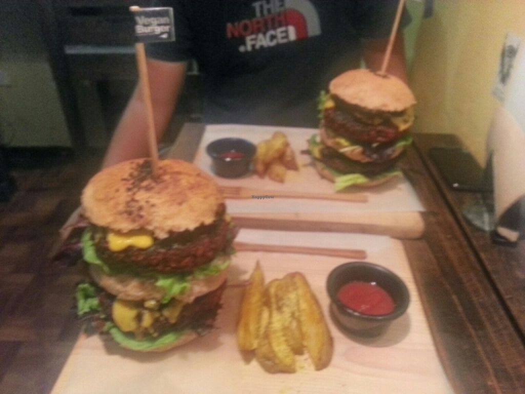 """Photo of Rincon Vegano  by <a href=""""/members/profile/swissglobetrotter"""">swissglobetrotter</a> <br/>Biggest and tastiest Vegan Burger EVER! <br/> February 17, 2016  - <a href='/contact/abuse/image/54821/136710'>Report</a>"""