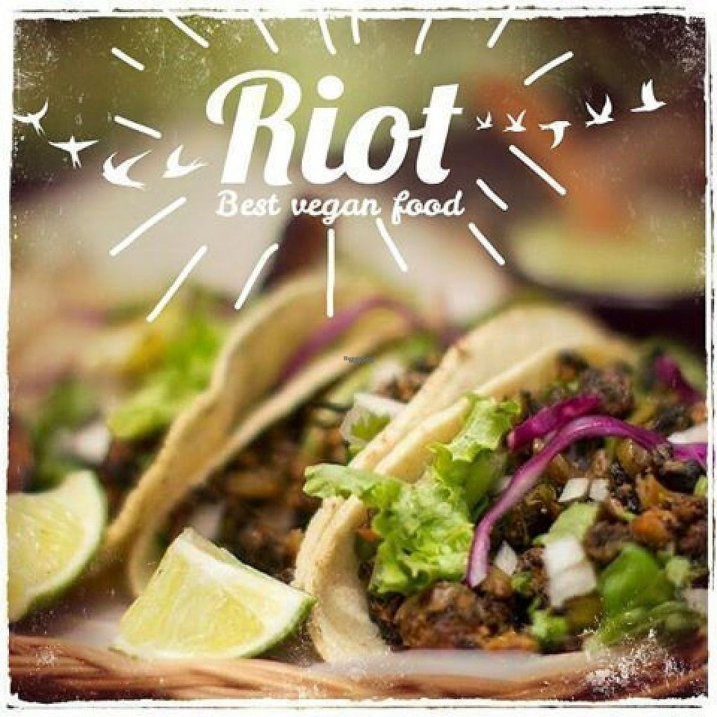 """Photo of Rincon Vegano  by <a href=""""/members/profile/RinconVeganoMerida"""">RinconVeganoMerida</a> <br/>Tacos Riot! <br/> March 10, 2017  - <a href='/contact/abuse/image/54821/234704'>Report</a>"""