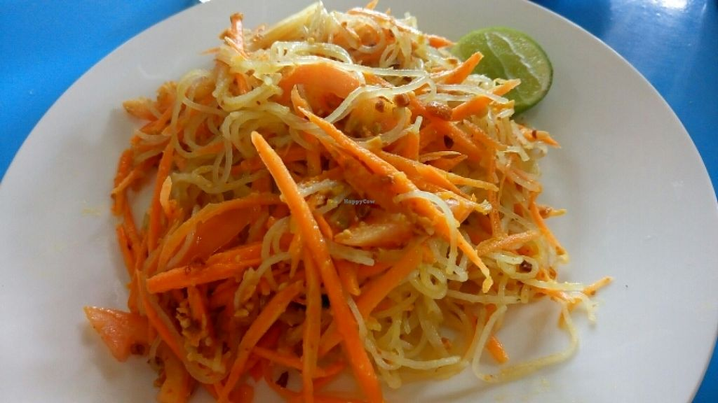 """Photo of Sun Flower Restaurant  by <a href=""""/members/profile/vivlovveg"""">vivlovveg</a> <br/>glass Noodle salad, good tasting. complimentary bowl of pumpkin soup came with the meal <br/> June 12, 2016  - <a href='/contact/abuse/image/54842/153645'>Report</a>"""