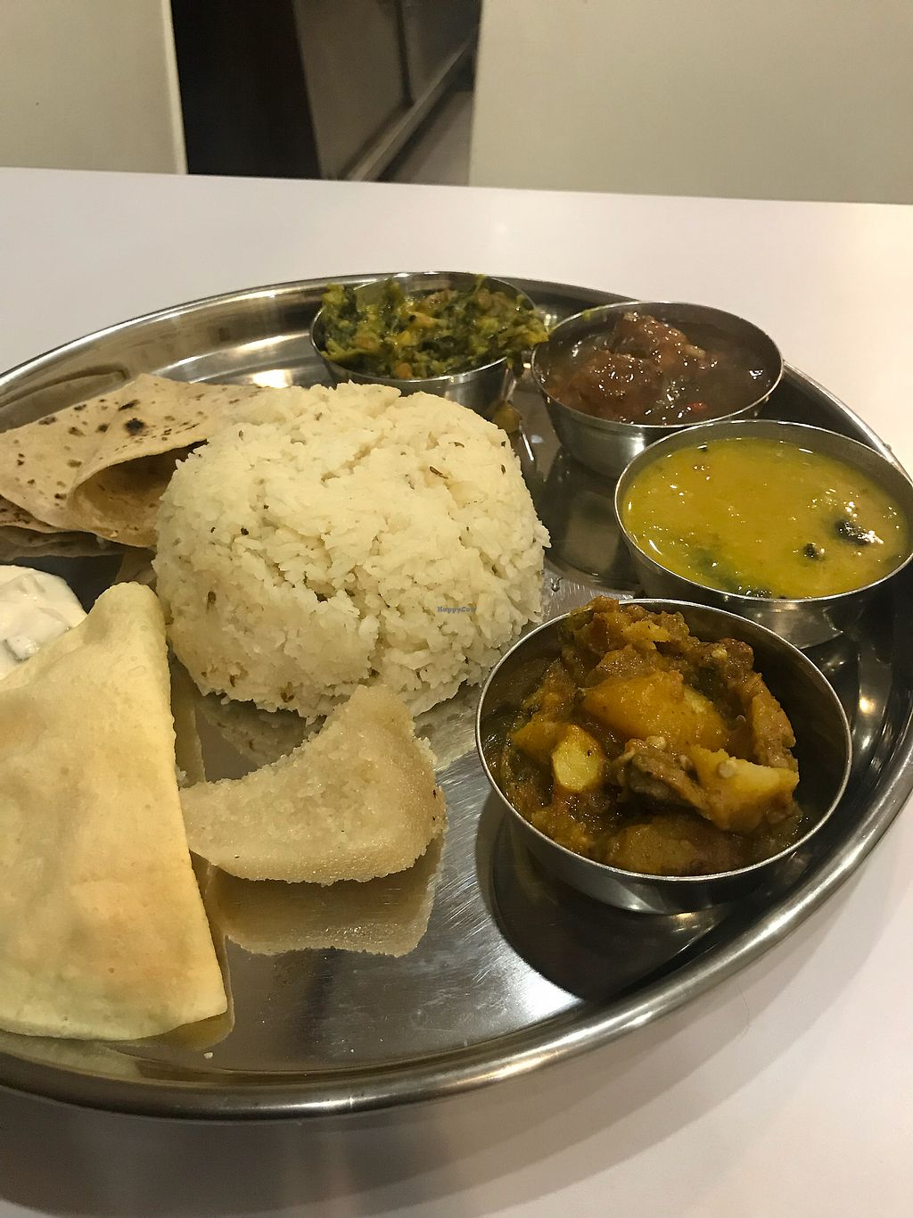 """Photo of Gopal's Vegetarian Restaurant  by <a href=""""/members/profile/edwardbc"""">edwardbc</a> <br/>South Indian plate  <br/> March 1, 2018  - <a href='/contact/abuse/image/54869/365162'>Report</a>"""