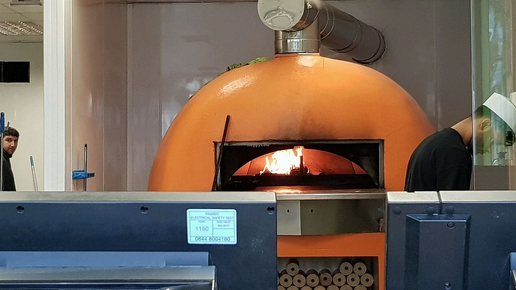 """Photo of Basilico - Lavender Hill  by <a href=""""/members/profile/jollypig"""">jollypig</a> <br/>The wood oven fire <br/> March 11, 2018  - <a href='/contact/abuse/image/54916/369398'>Report</a>"""