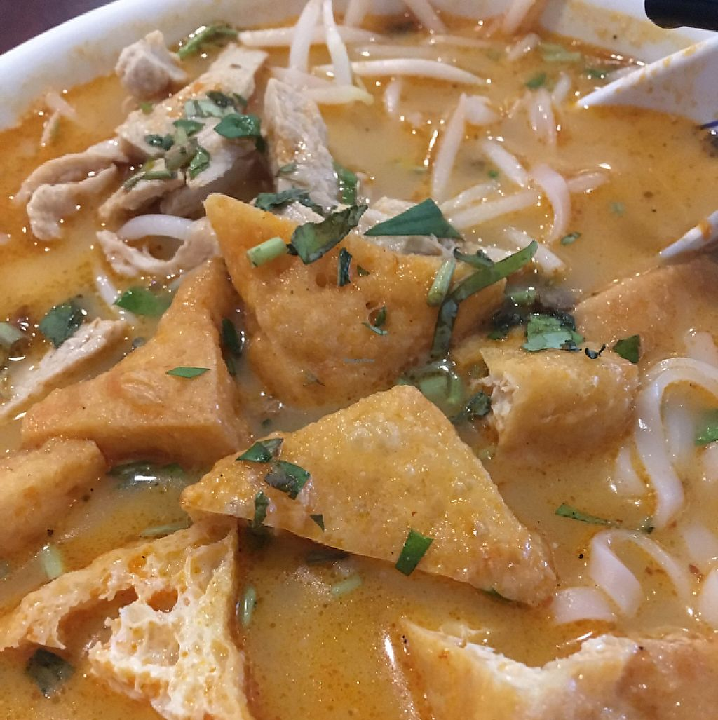 """Photo of Teapot Vegetarian House  by <a href=""""/members/profile/zwizki"""">zwizki</a> <br/>Laksa- rice noodles in spicy coconut broth <br/> May 10, 2017  - <a href='/contact/abuse/image/5492/257689'>Report</a>"""