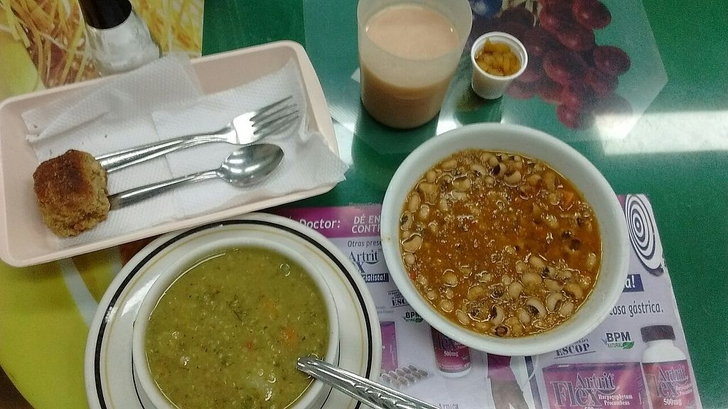 """Photo of Cocina Vegetariana  by <a href=""""/members/profile/maynard7"""">maynard7</a> <br/>First course, soup and beans April 2017 <br/> April 4, 2017  - <a href='/contact/abuse/image/54935/244535'>Report</a>"""