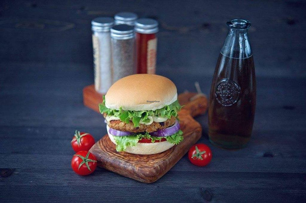 """Photo of CLOSED: Belly Full Of Veggies  by <a href=""""/members/profile/SashaCormier"""">SashaCormier</a> <br/>Bean and Quinoa Burger <br/> March 6, 2015  - <a href='/contact/abuse/image/54940/95045'>Report</a>"""