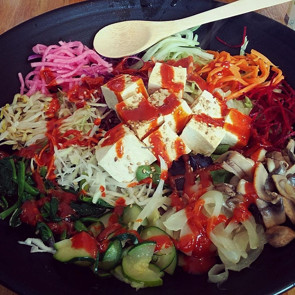 """Photo of En Hakkore  by <a href=""""/members/profile/makemenervous"""">makemenervous</a> <br/>Tofu Bibimbap, no egg and no kimchi.  <br/> March 26, 2015  - <a href='/contact/abuse/image/54945/97070'>Report</a>"""