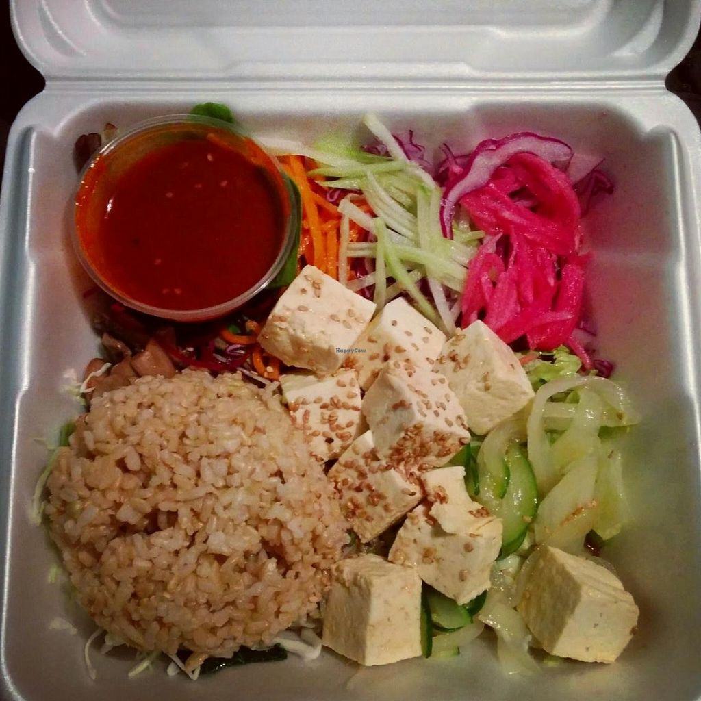 """Photo of En Hakkore  by <a href=""""/members/profile/makemenervous"""">makemenervous</a> <br/>Vegan Bibimbap To-Go <br/> March 26, 2015  - <a href='/contact/abuse/image/54945/97072'>Report</a>"""
