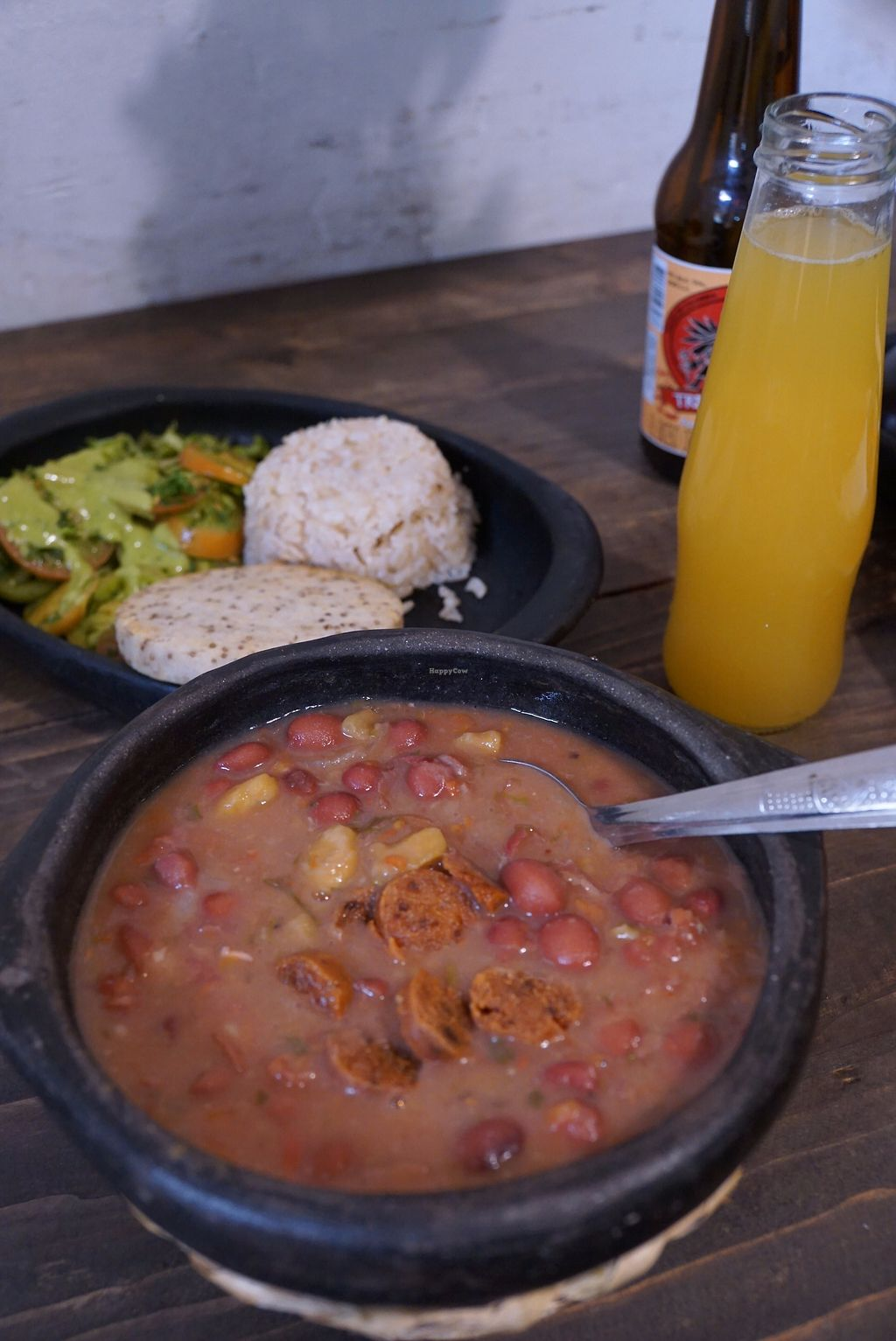 """Photo of Nativo  by <a href=""""/members/profile/Eepie"""">Eepie</a> <br/>Menu of the day (9.000 pesos). Bean soup with seitan <br/> August 15, 2017  - <a href='/contact/abuse/image/54950/292958'>Report</a>"""