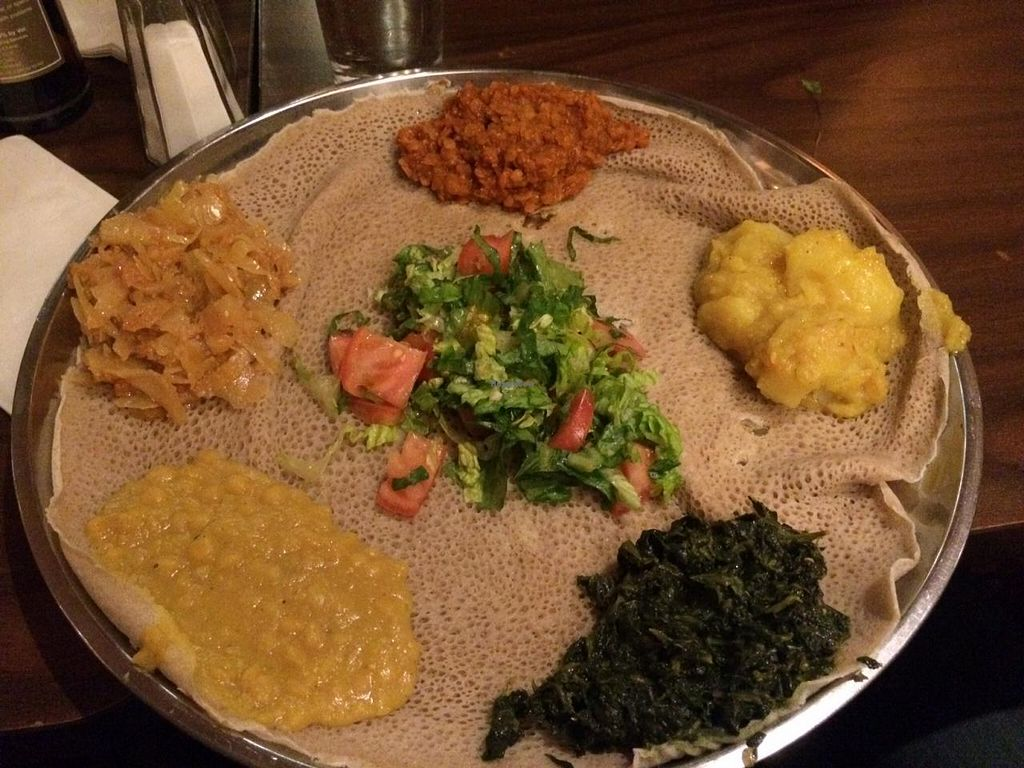 """Photo of Keren Restaurant and Coffee Shop  by <a href=""""/members/profile/Meggie%20and%20Ben"""">Meggie and Ben</a> <br/>Vegetable injera <br/> January 19, 2015  - <a href='/contact/abuse/image/54954/90759'>Report</a>"""