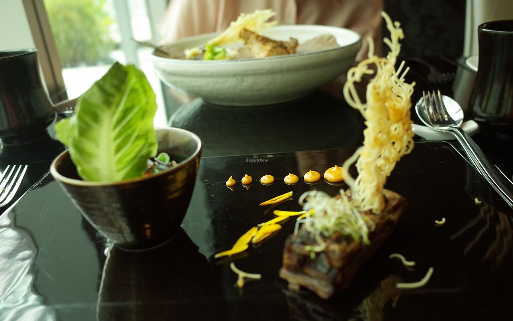 """Photo of Joie Restaurant  by <a href=""""/members/profile/ouikouik"""">ouikouik</a> <br/>Wild Rice with Eggplant Terrine <br/> October 3, 2015  - <a href='/contact/abuse/image/54966/119995'>Report</a>"""