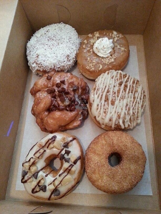 "Photo of Beechwood Doughnuts  by <a href=""/members/profile/Vegan%20GiGi"">Vegan GiGi</a> <br/>Coconut cream, pumpkin pie, banana chocolate chip fritter, banana cream, cookie dough, and cronut!  <br/> September 25, 2016  - <a href='/contact/abuse/image/55005/177794'>Report</a>"