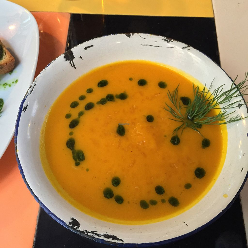 """Photo of Astrid  by <a href=""""/members/profile/MyVeganJoy"""">MyVeganJoy</a> <br/>yummy organic vegan carrot soup <br/> January 2, 2016  - <a href='/contact/abuse/image/55015/130726'>Report</a>"""