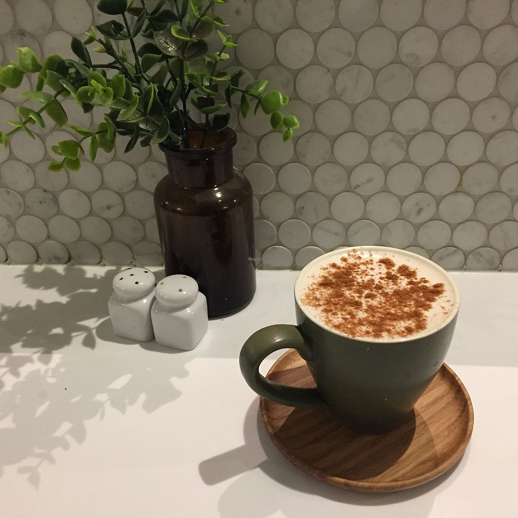 "Photo of Simple Seed Eatery  by <a href=""/members/profile/Wuji_Luiji"">Wuji_Luiji</a> <br/>Soy Chai Latte <br/> September 14, 2017  - <a href='/contact/abuse/image/55016/304118'>Report</a>"
