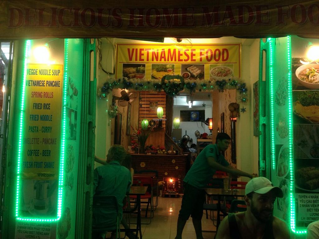 "Photo of Phuong Ca Fe Vietnamese  by <a href=""/members/profile/VeganBiker"">VeganBiker</a> <br/>Exterior at night.  <br/> January 22, 2015  - <a href='/contact/abuse/image/55030/91060'>Report</a>"