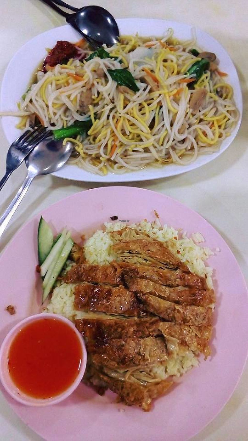 """Photo of Ci Wen Vegetarian Food Stall  by <a href=""""/members/profile/RunChay"""">RunChay</a> <br/>Delicious Hokkien Mee and Chicken Rice! <br/> February 4, 2017  - <a href='/contact/abuse/image/55033/222030'>Report</a>"""