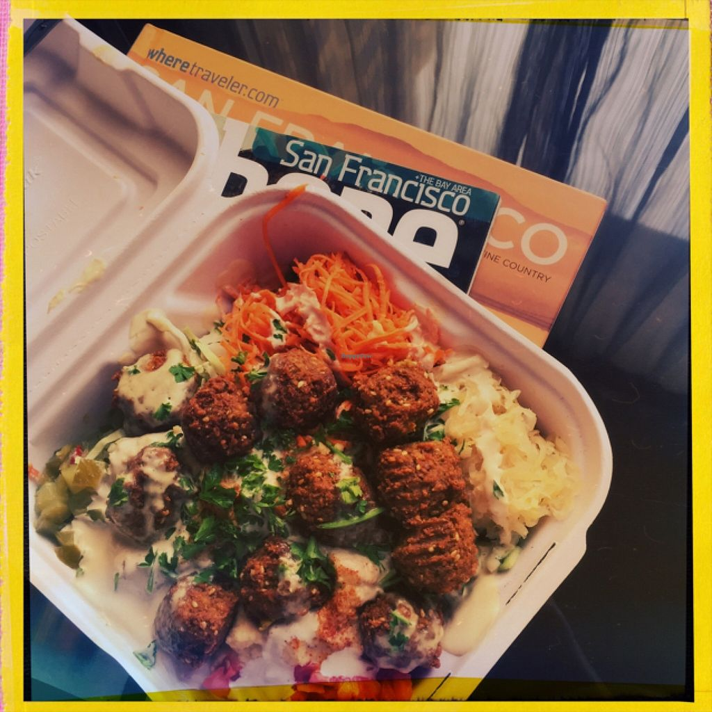 """Photo of The Flying Falafel  by <a href=""""/members/profile/VeganStewardess"""">VeganStewardess</a> <br/>Delicious  <br/> October 14, 2015  - <a href='/contact/abuse/image/55068/121330'>Report</a>"""