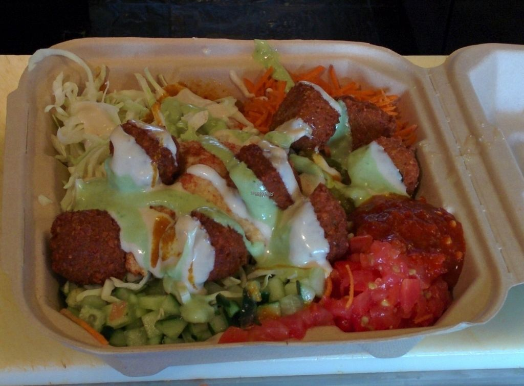 """Photo of The Flying Falafel  by <a href=""""/members/profile/MizzB"""">MizzB</a> <br/>Delicious, filling falafel platter <br/> October 20, 2016  - <a href='/contact/abuse/image/55068/183193'>Report</a>"""