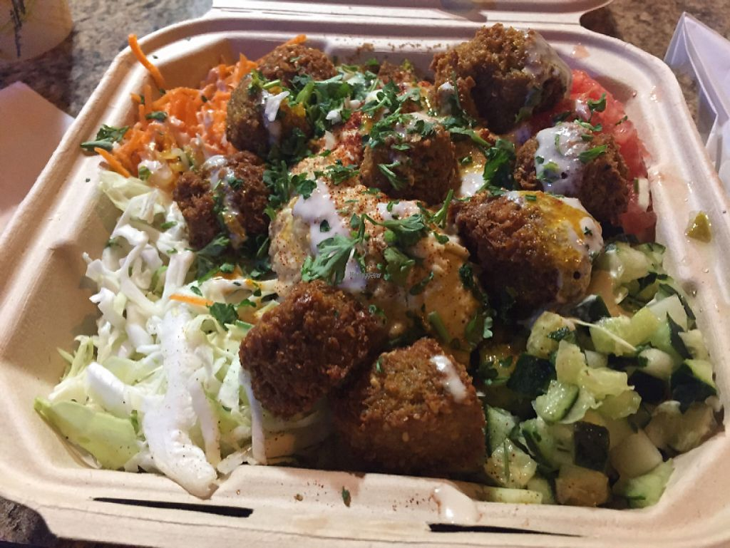 """Photo of The Flying Falafel  by <a href=""""/members/profile/Kittybiscuit"""">Kittybiscuit</a> <br/>plate of felafel <br/> November 10, 2016  - <a href='/contact/abuse/image/55068/188195'>Report</a>"""