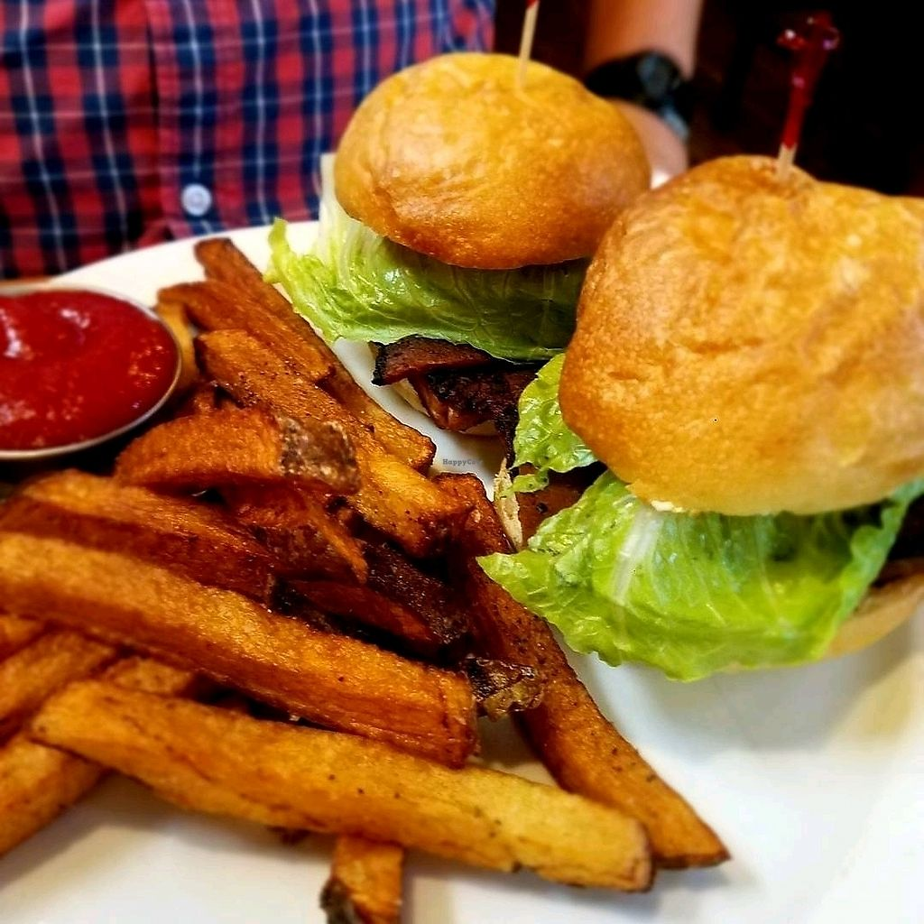 """Photo of The Elusive Cow  by <a href=""""/members/profile/Silly%20Little%20Vegan"""">Silly Little Vegan</a> <br/>Tempeh sliders with tempeh bacon <br/> September 24, 2017  - <a href='/contact/abuse/image/55076/308007'>Report</a>"""