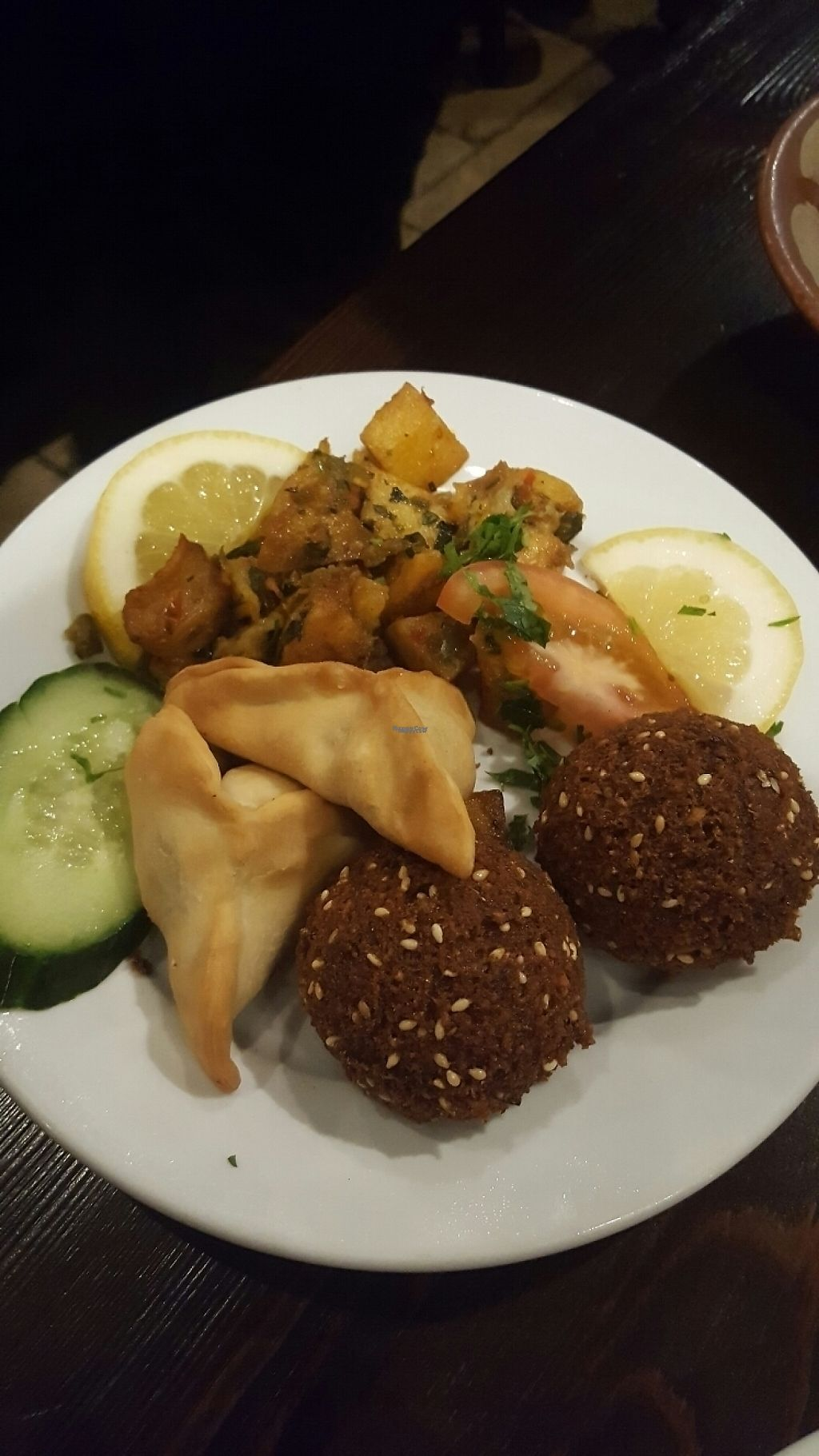 """Photo of Jeitta  by <a href=""""/members/profile/SharaFionaScates"""">SharaFionaScates</a> <br/>Starters - falafel and I think Fatayer spinach and batata harra - so good!  <br/> March 29, 2017  - <a href='/contact/abuse/image/55080/242404'>Report</a>"""