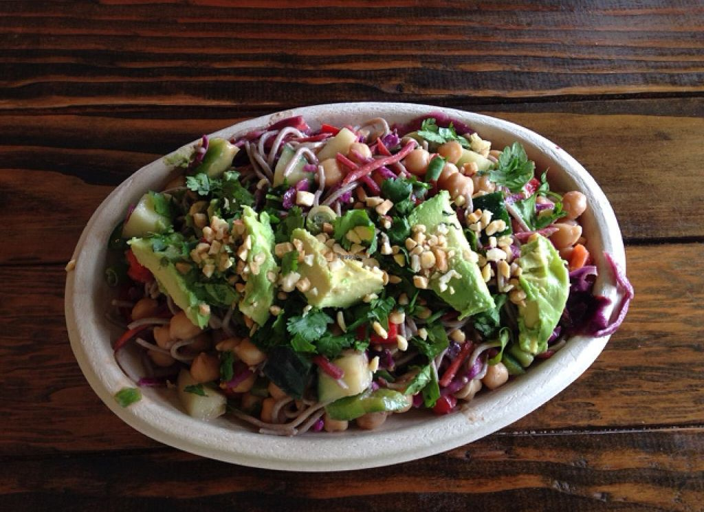 """Photo of Local Greens  by <a href=""""/members/profile/ShantiPeace"""">ShantiPeace</a> <br/>hang ten Thai w/chickpeas <br/> May 7, 2015  - <a href='/contact/abuse/image/55089/101520'>Report</a>"""