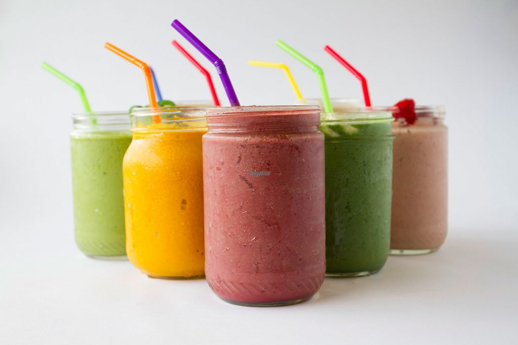 """Photo of CLOSED: Earth Girls Goodies & Eatery  by <a href=""""/members/profile/Happy%20Earth%20Girl"""">Happy Earth Girl</a> <br/>Enjoy one of our super food smoothies! We use organic ingredients & high quality super foods. All of our smoothies are dairy-free, vegan, gluten free and made with love! <br/> November 2, 2016  - <a href='/contact/abuse/image/55093/186234'>Report</a>"""