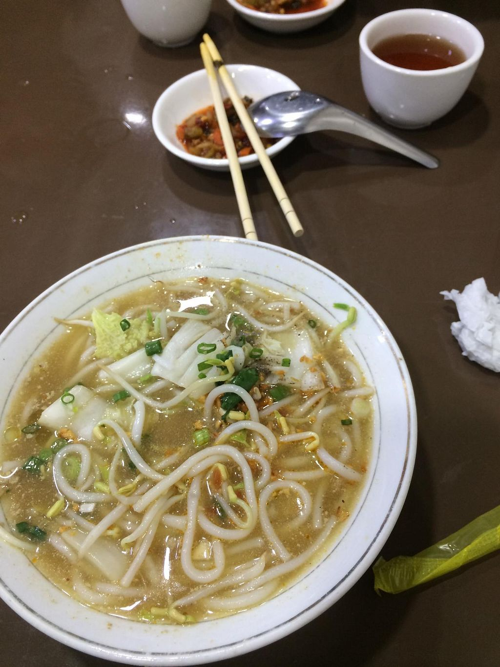 """Photo of 999 Shan Noodle Shop  by <a href=""""/members/profile/Plantpower"""">Plantpower</a> <br/>Vegan soup <br/> March 23, 2015  - <a href='/contact/abuse/image/55096/96625'>Report</a>"""