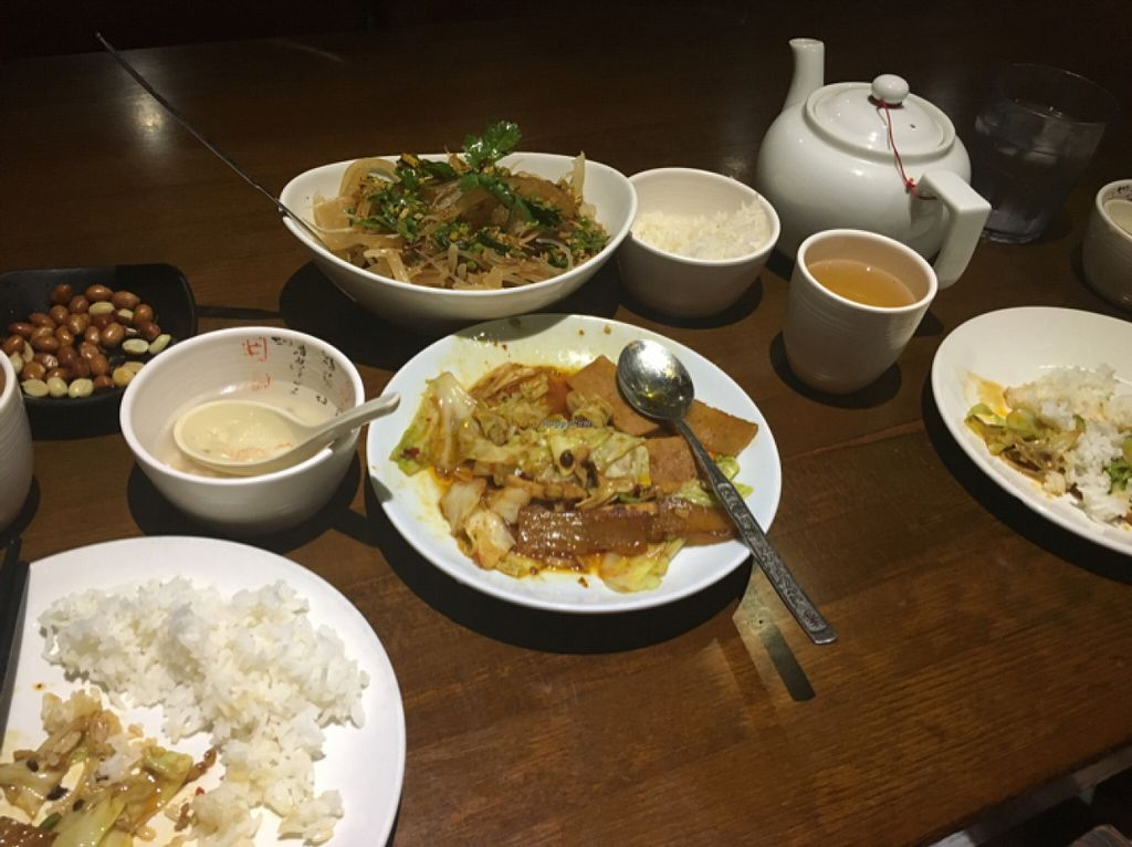 """Photo of Lucky Vegetarian  by <a href=""""/members/profile/KashiTamang"""">KashiTamang</a> <br/>sweet and sour kelp salad, tea, soup, twice cooked pork, and a salted peanut snack all for under 15  <br/> July 21, 2016  - <a href='/contact/abuse/image/55121/161388'>Report</a>"""