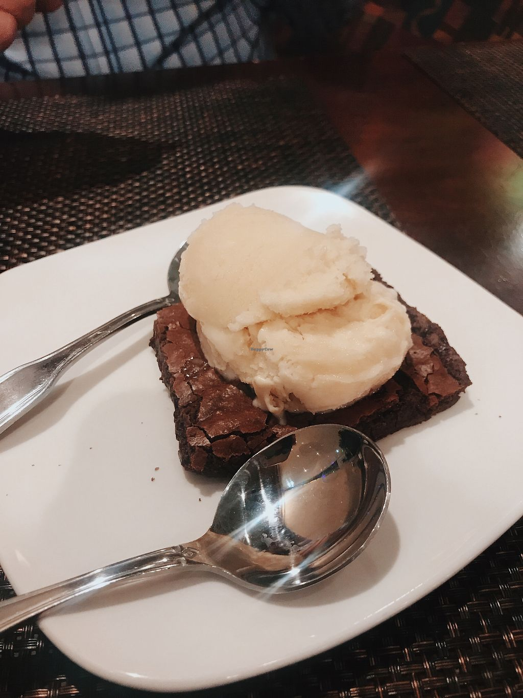 "Photo of Violette's Vegan Organic Eatery and Juice Bar  by <a href=""/members/profile/bbaussie"">bbaussie</a> <br/>Brownie with vegan ice cream <br/> March 21, 2018  - <a href='/contact/abuse/image/55147/373571'>Report</a>"