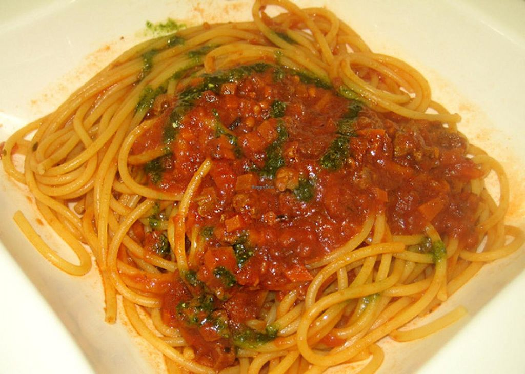 "Photo of Green Fresh Vegan Restaurant  by <a href=""/members/profile/Stevie"">Stevie</a> <br/>Spag bol <br/> July 19, 2015  - <a href='/contact/abuse/image/55182/109969'>Report</a>"