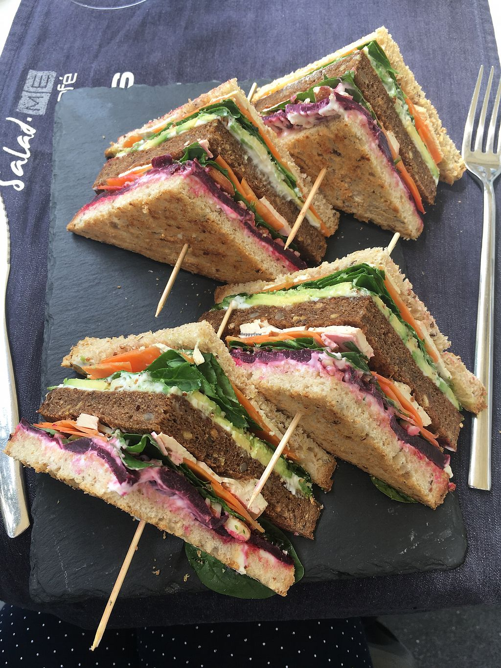 """Photo of Salad Me Cafe  by <a href=""""/members/profile/ElkeBa"""">ElkeBa</a> <br/>veganes Sandwich <br/> July 21, 2017  - <a href='/contact/abuse/image/55193/282868'>Report</a>"""