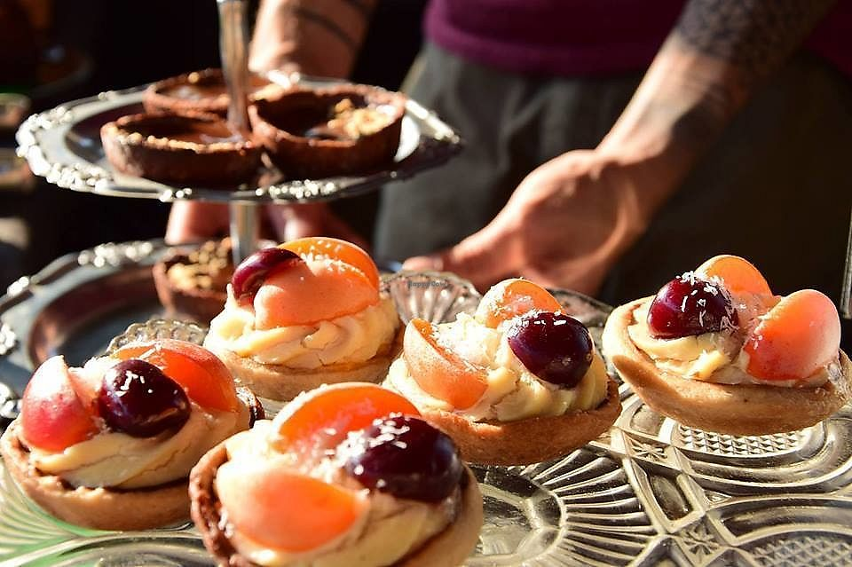 """Photo of Cukrárna  by <a href=""""/members/profile/zuzicka"""">zuzicka</a> <br/>Linz """"tartalletes"""" with fruits and choco-peanut cakes <br/> March 30, 2018  - <a href='/contact/abuse/image/55219/378272'>Report</a>"""