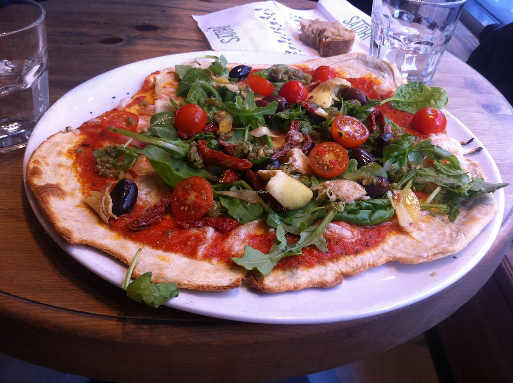 "Photo of CLOSED: Satori  by <a href=""/members/profile/ViktorijaGor"">ViktorijaGor</a> <br/>Amazing gourmet vegan pizza <br/> August 16, 2015  - <a href='/contact/abuse/image/55286/113794'>Report</a>"