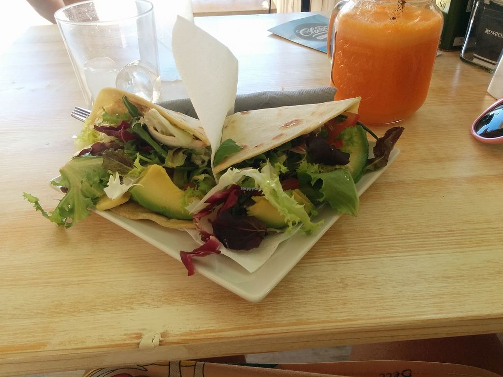 "Photo of Claro  by <a href=""/members/profile/InbalTenembaum"">InbalTenembaum</a> <br/>Great vegan Piadina!  <br/> July 30, 2017  - <a href='/contact/abuse/image/55290/286615'>Report</a>"
