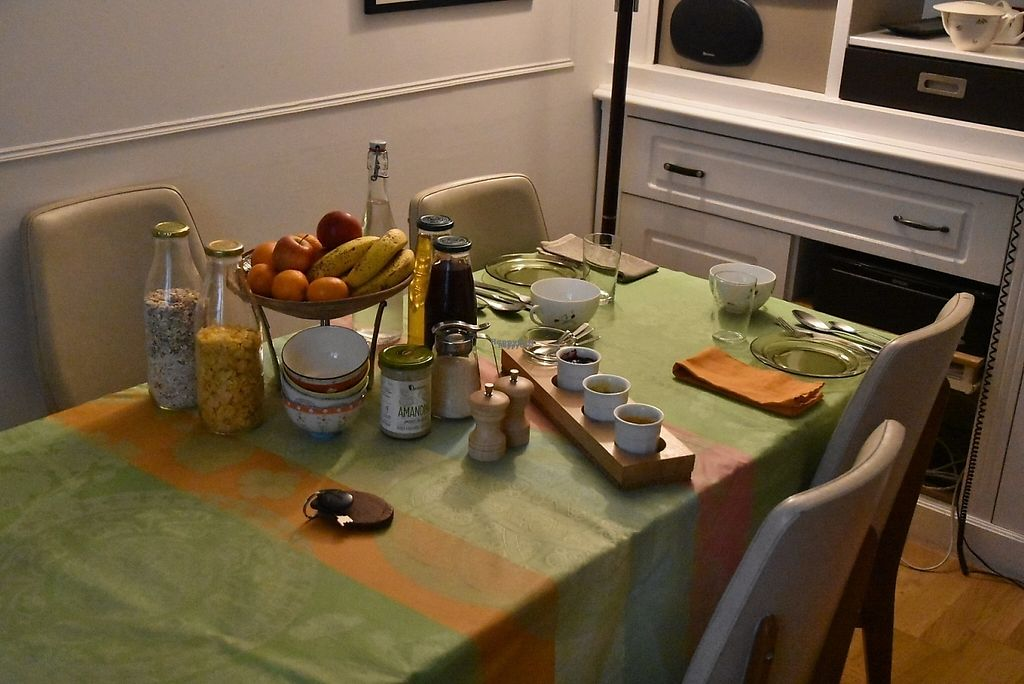 """Photo of Chambres de la Grande Porte  by <a href=""""/members/profile/HaugachakaMan"""">HaugachakaMan</a> <br/>Vegan breakfeast for two <br/> April 21, 2017  - <a href='/contact/abuse/image/55297/250565'>Report</a>"""