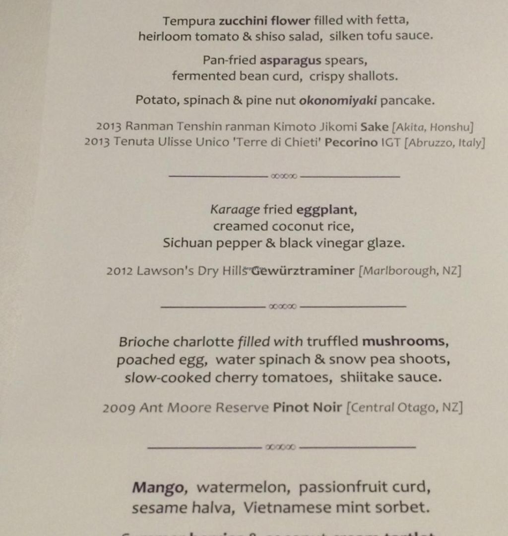 "Photo of Matteo's  by <a href=""/members/profile/BrianDavey"">BrianDavey</a> <br/>Part of the vegetarian degustation menu. The last prt of the dessert is missing.  <br/> February 5, 2015  - <a href='/contact/abuse/image/55380/92307'>Report</a>"