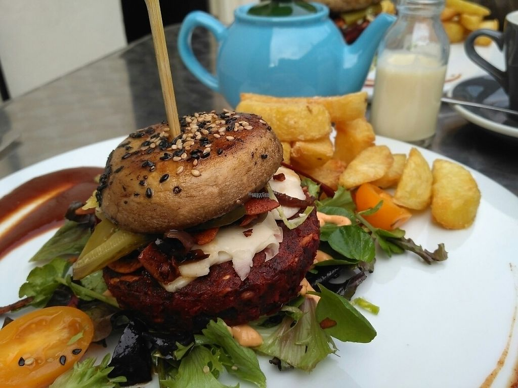 """Photo of Offbeet Food  by <a href=""""/members/profile/Miggi"""">Miggi</a> <br/>Beet burger meal <br/> February 19, 2017  - <a href='/contact/abuse/image/55388/228233'>Report</a>"""